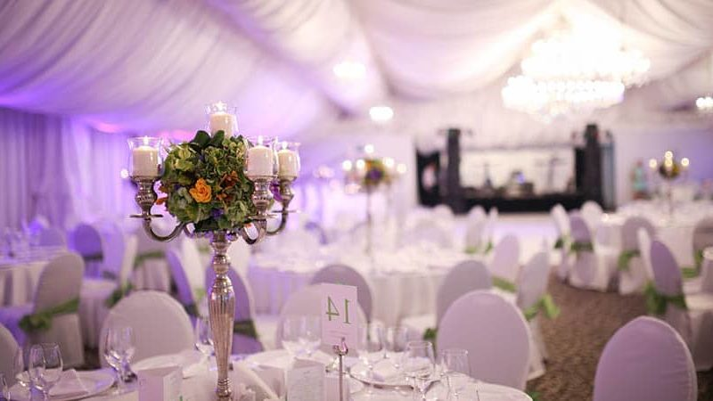 Different types of tents that are commonly used for wedding functions